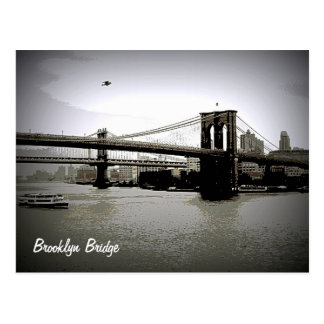 Cartes postales d'art de pont de Brooklyn