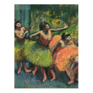 Cartes postales de ballerine d'Edgar Degas