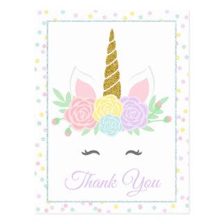 Cartes postales de carte de remerciements de