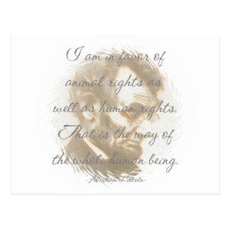 Cartes postales de citation d'Abraham Lincoln