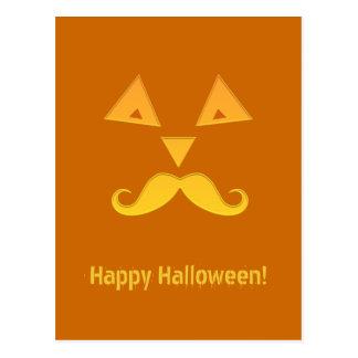 Cartes postales de citrouille de moustache de