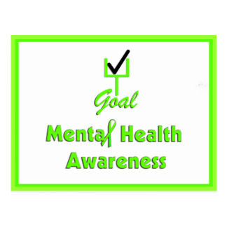 Cartes postales de conscience de santé mentale de