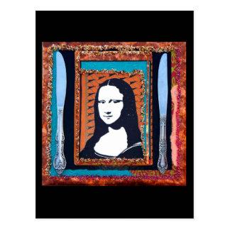 Cartes postales de dîner de Mona