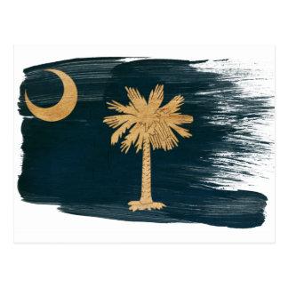 Cartes postales de drapeau de la Caroline du Sud