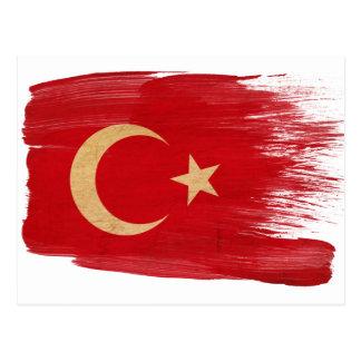 Cartes postales de drapeau de la Turquie