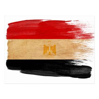 Cartes postales de drapeau de l'Egypte