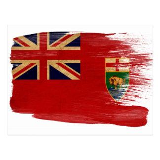 Cartes postales de drapeau de Manitoba