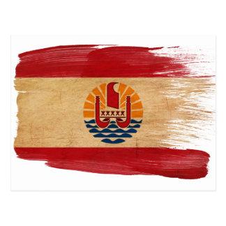 Cartes postales de drapeau de Polynésie française