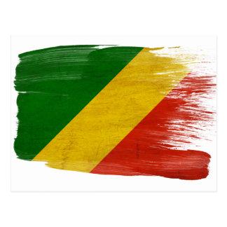 Cartes postales de drapeau de République du Congo