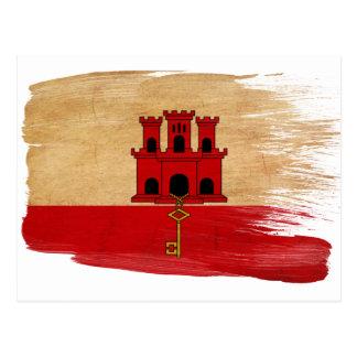 Cartes postales de drapeau du Gibraltar