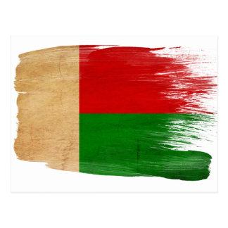 Cartes postales de drapeau du Madagascar
