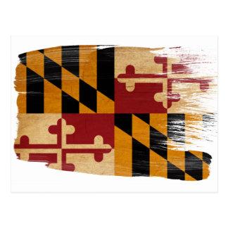 Cartes postales de drapeau du Maryland