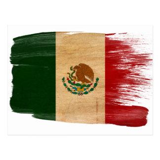 Cartes postales de drapeau du Mexique