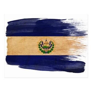 Cartes postales de drapeau du Salvador