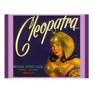 Cartes postales de étiquetage de Cléopâtre de