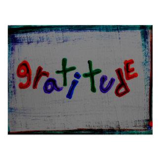 "cartes postales de ""gratitude"""