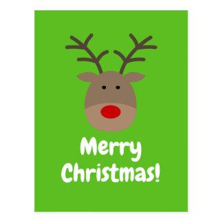 Cartes postales de Joyeux Noël avec le logo mignon