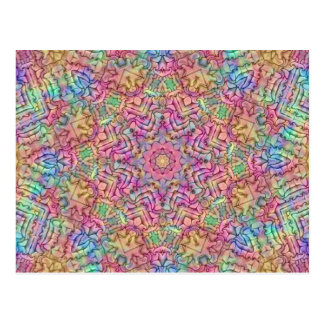 Cartes postales de kaléidoscope de couleurs de