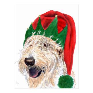 Cartes postales de Labradoodle d'aide de Père Noël