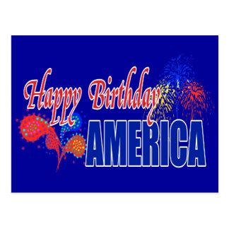 Cartes postales de l'Amérique de joyeux
