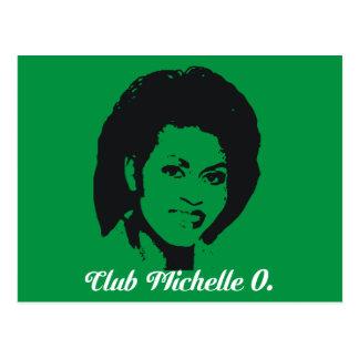 Cartes postales de Michelle O de club, vert de