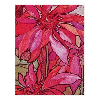 Cartes postales de Noël de poinsettias d'Alphonse