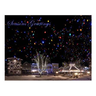 Cartes postales de Noël :  'Lumières du nord