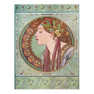 Cartes postales de Nouveau d'art de laurier