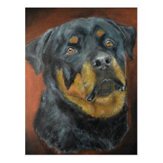 Cartes postales de peinture de rottweiler