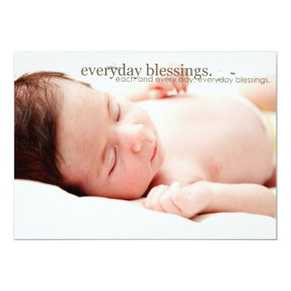 cartes postales de photo d'annonces de bébé carton d'invitation  12,7 cm x 17,78 cm