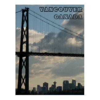 Cartes postales de porte de lions de Vancouver de
