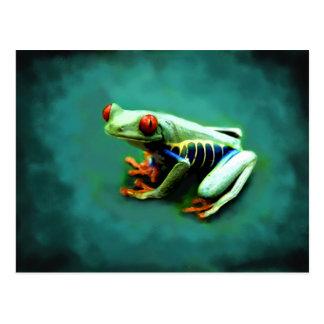 Cartes postales de portrait de grenouille d'arbre