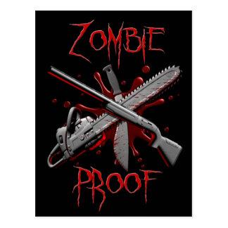 Cartes postales de preuve de zombi