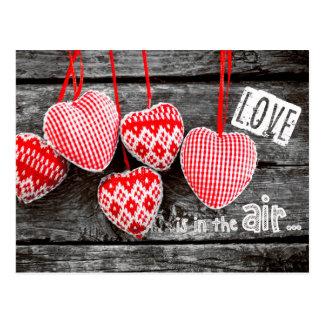 Cartes postales de Saint-Valentin de coeurs de