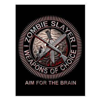 Cartes postales de tueur de zombi