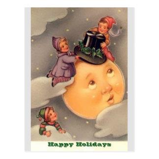 Cartes postales de vacances : Lune lunatique