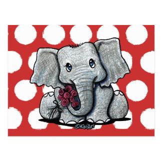 Cartes postales d'éléphant de KiniArt