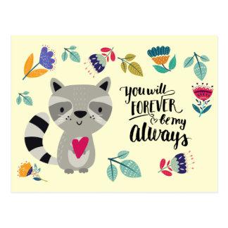 Cartes postales drôles de Saint-Valentin de raton