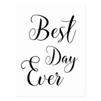 """Cartes postales du """"meilleur jour jamais"""""""
