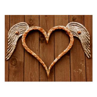 Cartes postales en bois rustiques de