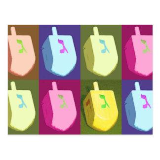 Cartes postales en pastel de Dreidel Hanoukka