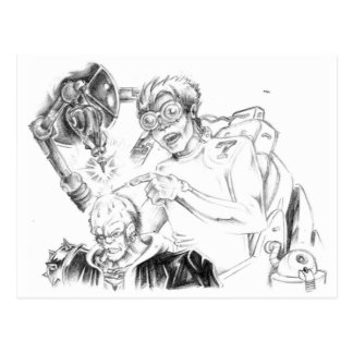 Cartes postales folles de Skillustrator