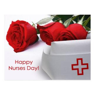 Cartes postales heureuses de jour d'infirmières