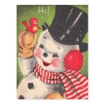 Cartes postales mignonnes de Noël de bonhomme de n