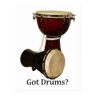 Cartes postales obtenues de tambours
