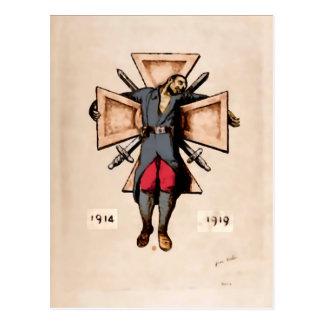 Cartes postales pacifistes d'image de soldat