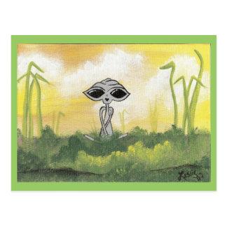 Cartes postales paisibles d'alien d'été