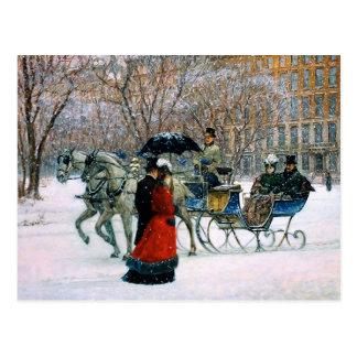Cartes postales parisiennes vintages de Noël de