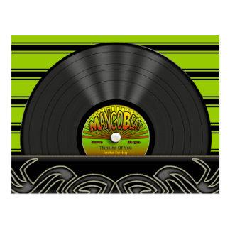 Cartes postales personnalisées par disque vinyle