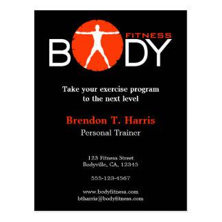 Cartes postales personnelles d'entraîneur de forme